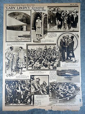 1928 San Francisco Rotogravure Page - Lady Lindy Amelia Earhart Rousing Welcome