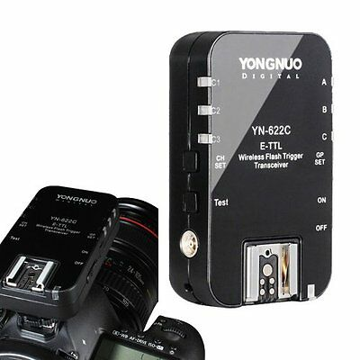 1 x Yongnuo YN-622C Wireless Flash Trigger E-TTL Transceiver for Canon EOS 7D US