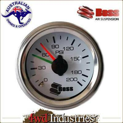 Boss Twin Needle Air Pressure Gauge for Air Suspension / Compressor / Tank / Wor