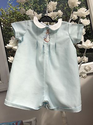 Baby Clothes Peter Rabbit - Traditional Classic Short Length Romper Duck Egg Blu