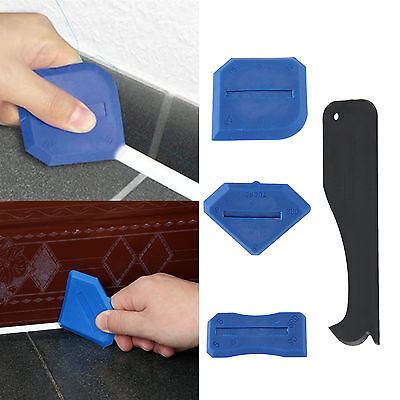 4 Pcs/Set Silicone Sealent Spreader Scraper Caulking Remover Grout Caulk Tool