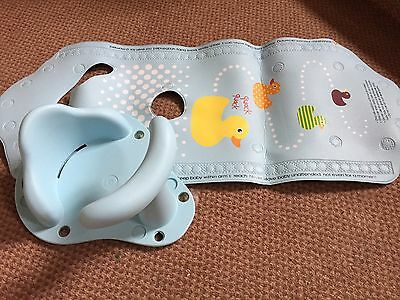 Mothercare Aqua Pod Blue Baby Bath Seat and Mat - Excellent!