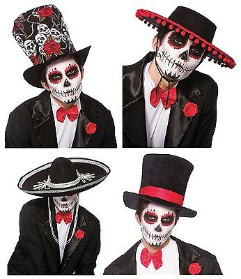 Day Of The Dead Mariachi Band Hat Fancy Dress Mexican Spanish Halloween Adult Bk