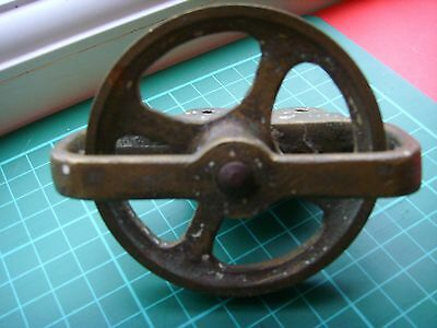 Vintage Brass Pulley Wheel  Steam / Ships / Marine / Boats / Engines