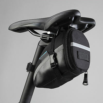 Durable Mountain Bike Bag Road Bicycle Cycling Seat Saddle Black Bag Accessories