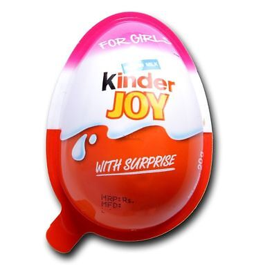 12 PCs OF KINDER JOY EGGS FOR GIRL'S INSIDE CHOCOLATE TOYS- FREE GLOBAL SHIPPING