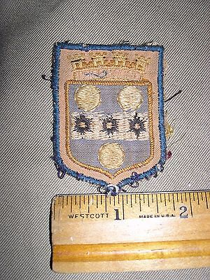 Wwii British Patches From A Scrap Book, Army Nurse Bring Back, Glue And Paper