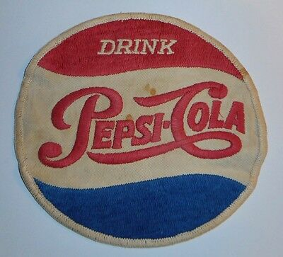 Rare & Original 1950's Vintage Pepsi Cola Cloth Jacket Patch