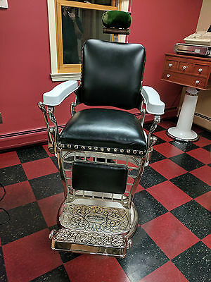 Antique Emil J.paidar / Louis Hanson Barber Chair....circa 1917