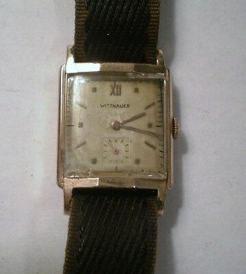 Vintage Wittnauer 10K Gold Filled Case Mens Watch Working 17 Jewel