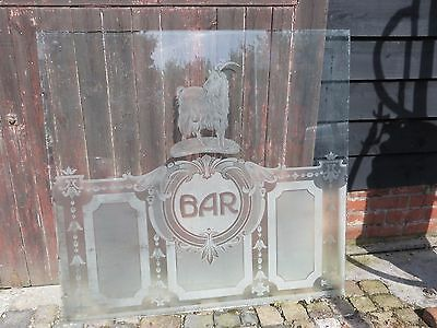 LATE VICTORIAN ETCHED GLASS - GROVES BREWERY WEYMOUTH DORSET  Window glass BAR
