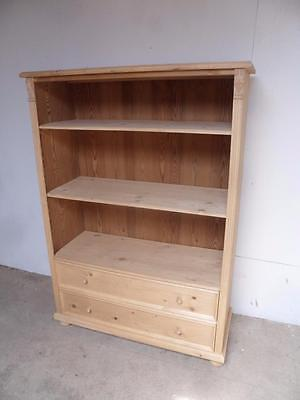 A Large Antique/Old Pine Multi Functional Bookshelf/Chest to Wax/Paint