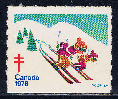 Canada #77(1) 1978 Christmas Seals CHILDREN SKIING MNH