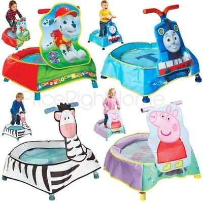 Kids Junior Toddler Trampoline - Zebra, Paw Patrol Marshall, Thomas & Friends