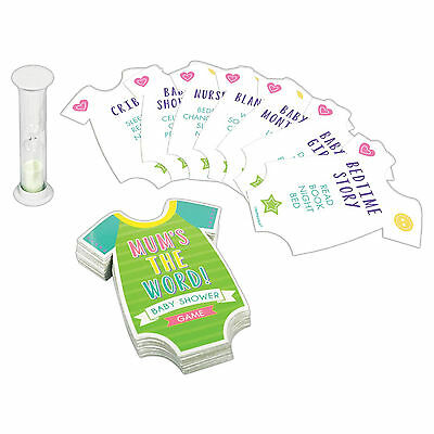 New Baby Shower Celebration Mum's The Word Guessing Party Game with Timer
