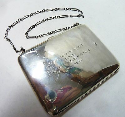 Antique Solid Silver Stamp/Card Case/Purse Hallmarked 1914 Birmingham 131g