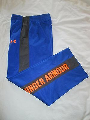 (*.*) UNDER ARMOUR * Boys BLUE Athletic / Work-out Pants * Youth Size YXL
