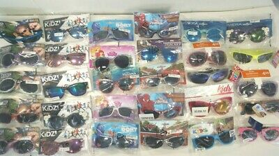 Wholesale Lot 25 Pairs Kid's Sunglasses Assorted Styles & Colors Disney NEW