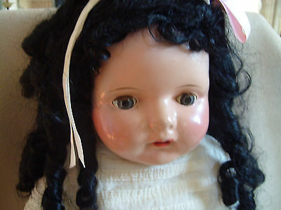 """Antique Composition Doll - 25"""" -Unmarked - Very Rare Price Reduced"""