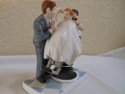 """Norman Rockwell Figurine """"THE FIRST HAIRCUT"""" 1986 w/BOX"""