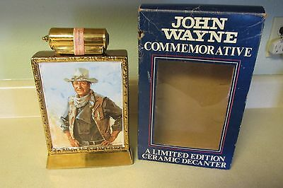 1979 Vintage John Wayne Commemorative Limited Edition Ceramic Decanter Empty!