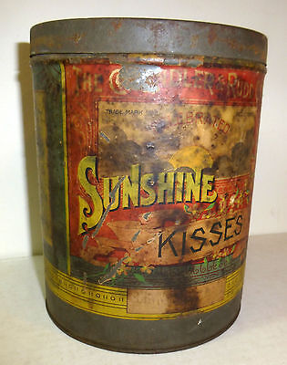 Chandler & Rudd Sunshine Kisses Confections tin, c. 1890, Cleveland candy