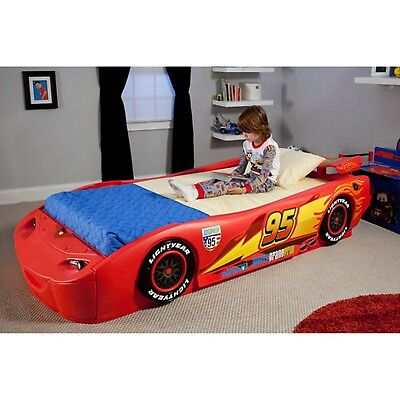 Cars Lightning Mcqueen Twin Bed With Lights Disney Bedroom Furniture