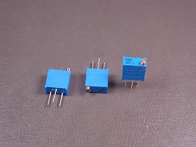 """Lot of 3 3296Y-1-105 Bourns 3/8"""" Trimpot Trimming Potentiometer 1M Ohm 10% NOS"""