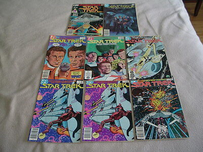 Lot Of Early Copper Age Star Trek Comic Books #2,2,3,6,9,12-  Dc 1984