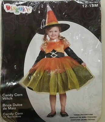 Candy Corn Witch Toddler Halloween Costume Size 12-18 Months *New Free Shipping*