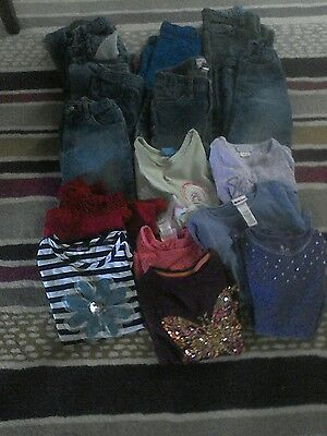 girl lot of 16 back to school size 6 8jeans 8 shirts used