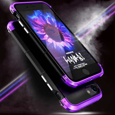 Luxury Shockproof Metal Aluminum Bumper Hard Back Case Cover For iPhone 7 Plus