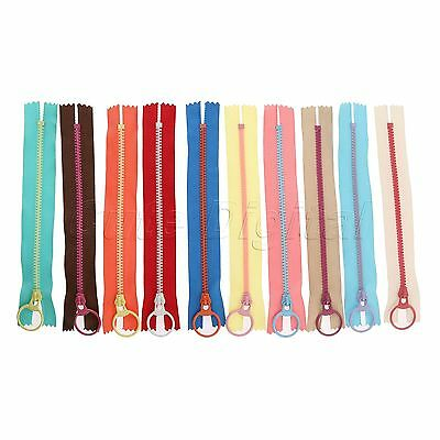 10pcs 15/20/30/40cm Zip Hanging Ring Puller Zipper Closed End Sewing Accessories