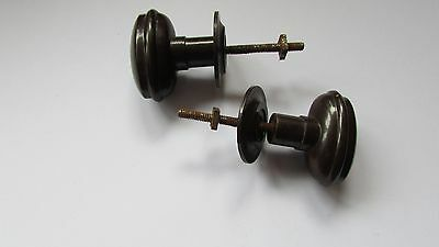 Pair of Vintage Bakeiite Cabinet handles with backs, Re claimed used condition.