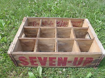 Rare Vintage 1974 7-Up Crate,wooden Box,soda  Bottle Box