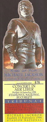 MICHAEL JACKSON, Number 676 Ticket Concert, History World Tour 1996/97