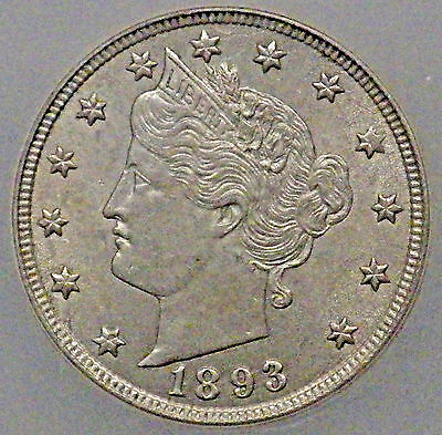 1893/93 Liberty Nickel ICG MS63 RPD-002 Coin