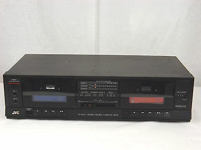 JVC TD-W20J Stereo Double Cassette Deck High Speed Dubbing Dolby