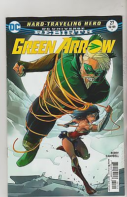 Dc Comics Green Arrow #27 September 2017 Rebirth 1St Print Nm