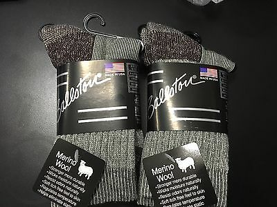 Kids Merino Wool Crew Hiking Socks Ballston,REI Over run , Made in USA Gray 12pk