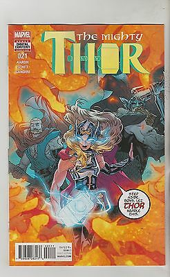 Marvel Comics Mighty Thor #21 September 2017 1St Print Nm