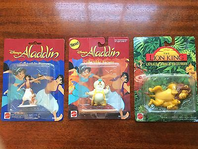 Disney Collectible 3 Figure Lot - 2 Aladdin, 1 Lion King - Unopened