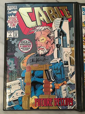 Cable #1, 2, New Mutants #87- collection autographed w/COA by Thibert + Panosian