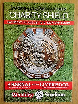 Arsenal v Liverpool 1979 Charity Shield programme
