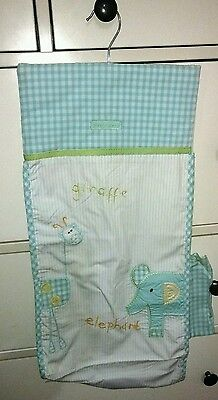 Marks And Spencer Nappy Stacker/ Dispenser Giraffe & Elephant boy girl blue