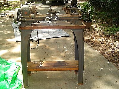 Old Atlas Metal Lathe And Stand Atlas 618