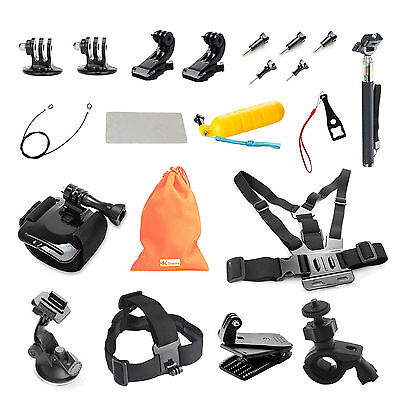 21-in-1 Essentials Accessories Kit GoPro Hero 4/3+/3/2/1 Session LCD SJ Cameras