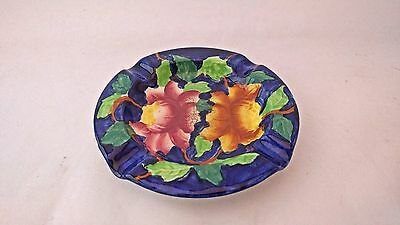 Antique Maling Pottery Lustre Ware 6504 Peony Pattern Round Ashtray A/F