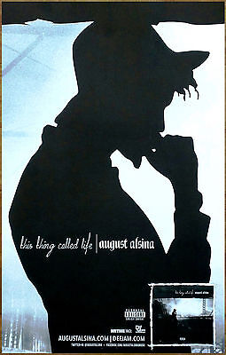 AUGUST ALSINA This Thing Called Life Ltd Ed RARE New Poster Diplay! Hip Hop Rap