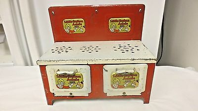 Vintage Little Orphan Annie Metal Playhouse Toy Stove-3 Burner, 2 Oven